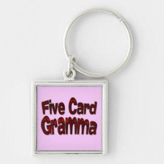 Five Card Gramma drk Keychain