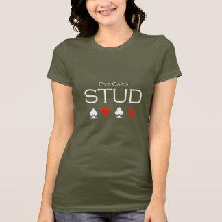 Five card stud T-shirt white