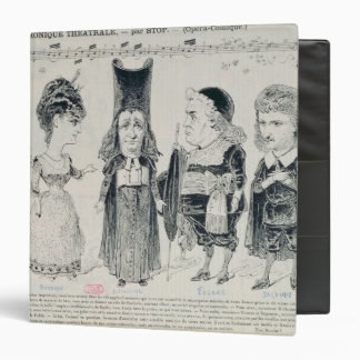 Five caricatures of the cast of a French Binder