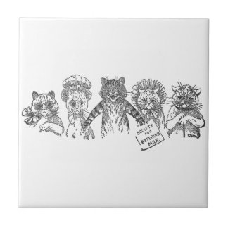 Five Cats in a Bad Mood Tile