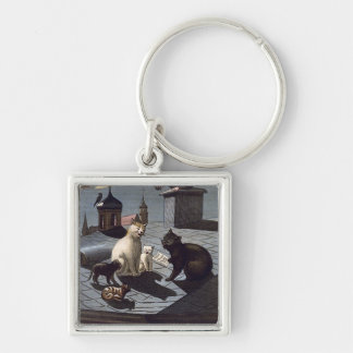 Five Cats Singing On A Roof Premium Keychain