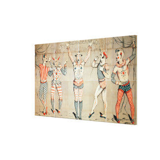 Five Celebrated Clowns Attached to Sands Canvas Print