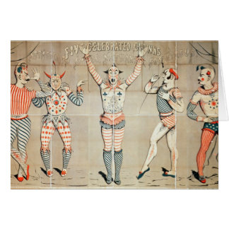 Five Celebrated Clowns Attached to Sands Greeting Cards