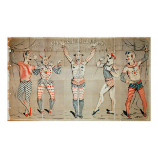 Five Celebrated Clowns Attached to Sands Poster
