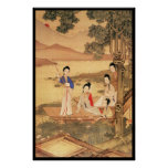 Five Chinese Ladies Afloat Poster