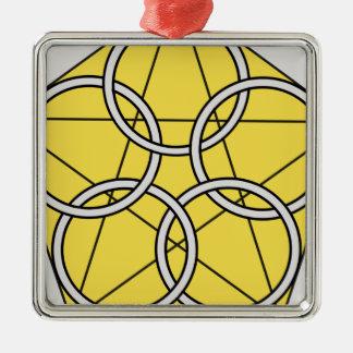 Five Circle Star1 Metal Ornament