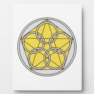 Five Circle Star1 Plaque