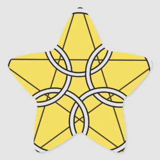 Five Circle Star1 Star Sticker