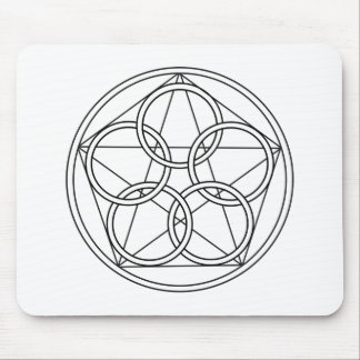 Five Circles Star Mouse Pad
