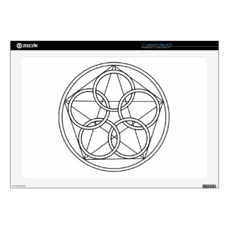 "Five Circles Star Skins For 17"" Laptops"