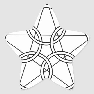 Five Circles Star Star Sticker