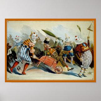 Five Clowns Print