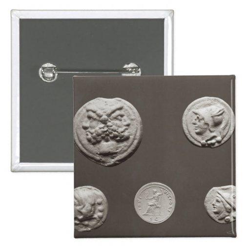 Five coins button
