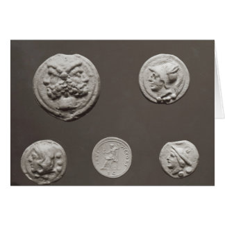 Five coins card
