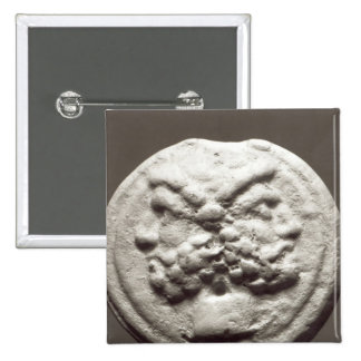Five coins depicting Janus, Jupiter Pinback Button