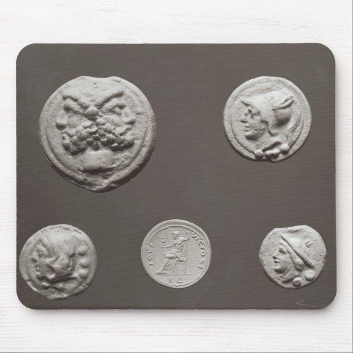 Five coins mousepad