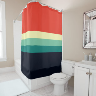 Blue Red And Green Shower Curtains