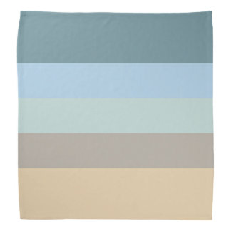 Five Color Combo -Blue Brown Sand Beige Turquoise Bandana