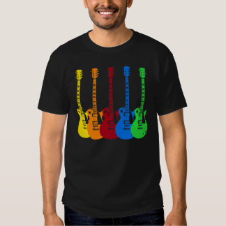 Five Colorful Electric Guitars Dresses