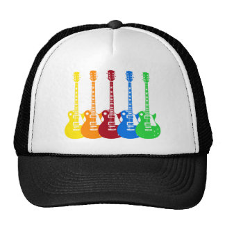 Five Colorful Electric Guitars Trucker Hats