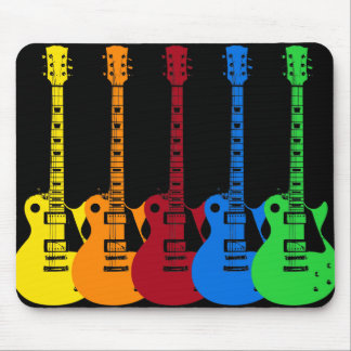 Five Colorful Electric Guitars Mouse Pad