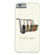 Five Colorful Saxophones On An Iphone 6 Case at Zazzle