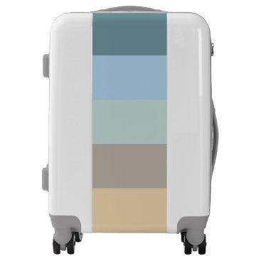 Beach Themed Five Colors -  Blue Brown Sand Beige Turquoise Luggage