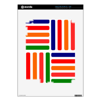 five colors decal for iPad 2