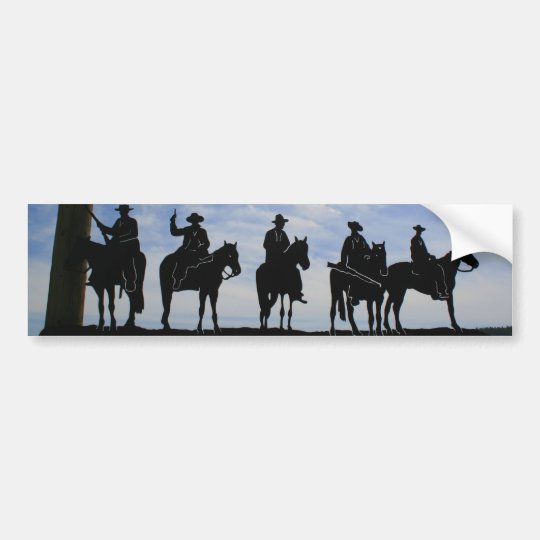 Five Cowboys bumper sticker