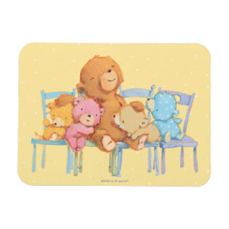 Five Cuddly and Colorful Bears On Chairs Rectangular Photo Magnet
