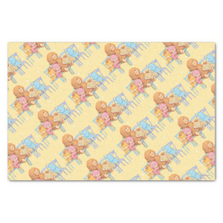 Five Cuddly and Colorful Bears On Chairs Tissue Paper