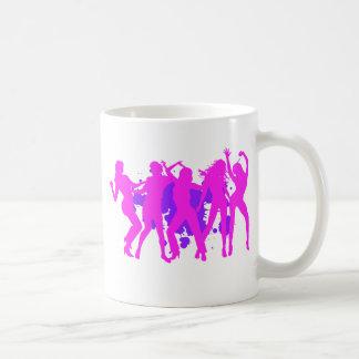 Five Dancing Girls Classic White Coffee Mug
