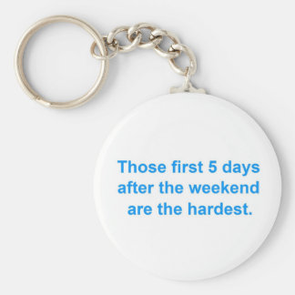 Five Days After the Weekend Keychain