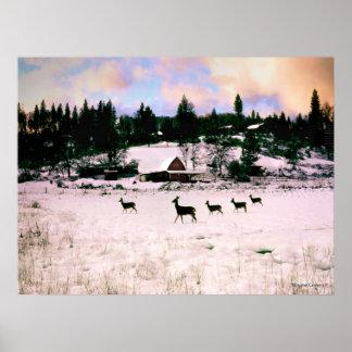 Five Deer - Ananda Poster
