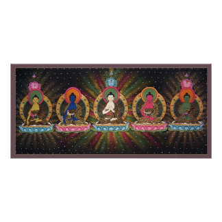 Five Dhyani Buddhas Poster
