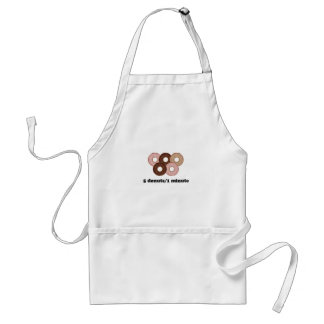 Five donuts in one minute adult apron