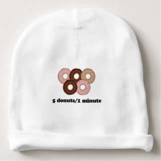 Five donuts in one minute baby beanie