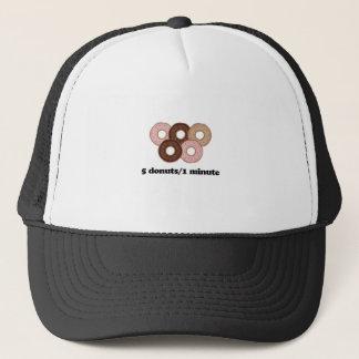 Five donuts in one minute trucker hat