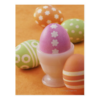 Five Easter Eggs Postcard