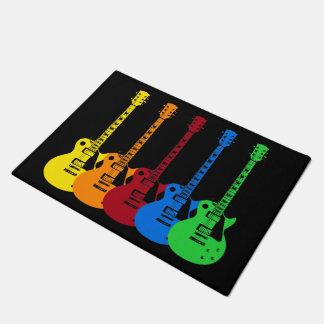 Five Electric Guitars Doormat