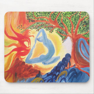Five Element theme watercolor hand drawn Mouse pad
