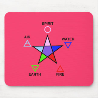 Five Elements and Pentagram Mouse Pad