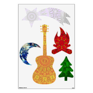 Five Elements camping wall decals