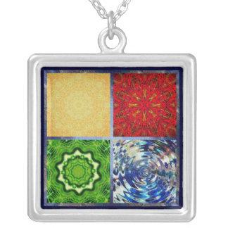 Five Elements Square Pendant Necklace