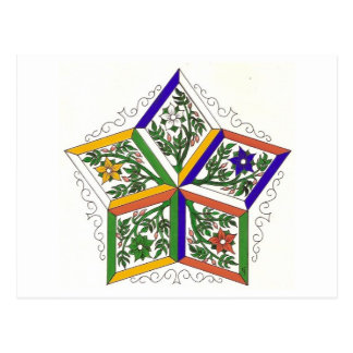Five Elements Star Postcard