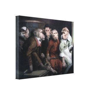 Five Fancy Monkeys Canvas Print