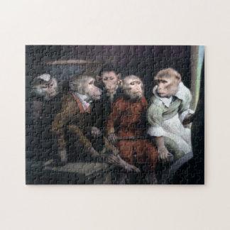Five Fancy Monkeys Jigsaw Puzzle