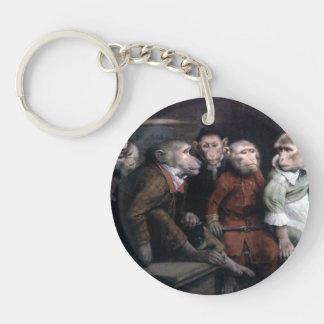 Five Fancy Monkeys Keychain