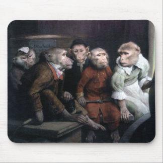 Five Fancy Monkeys Mouse Pad