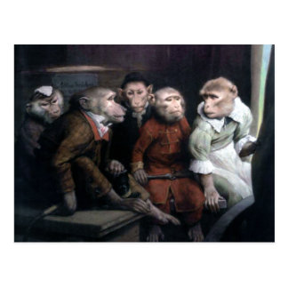 Five Fancy Monkeys Postcard